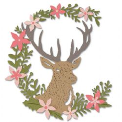 662634 Sizzix Thinlits Die Set 5PK - Deer by Sophie Guilar